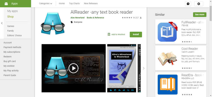 eReader Apps Review Series: AI Reader