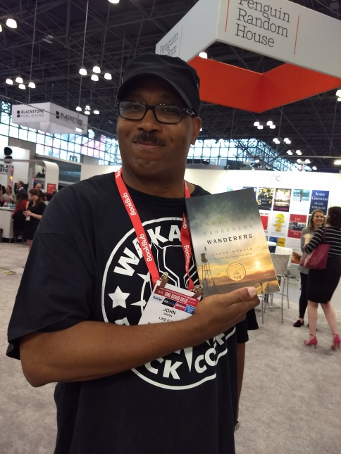 Me Holding Chuck Wendig Book